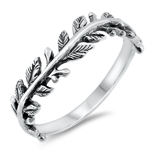 Silver Ring - Leaves - $3.37
