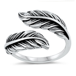 Silver Ring - Feathers - $5.68