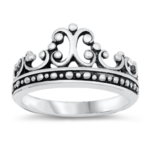 Silver Ring - Crown - $6.99
