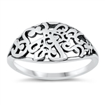 Silver Ring - Filigree - $3.76