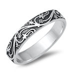 Silver Ring - Vines - $4.05