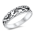 Silver Ring - Dolphin - $4.34