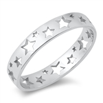 Silver Ring - Stars - $3.18