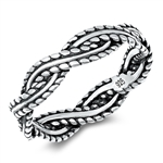 Silver Ring - Braided Band - $3.97