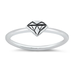 Silver Ring - Diamond - $2.36