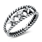 Silver Ring - Stars - $4.16