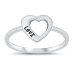Silver Ring - Heart - $2.34