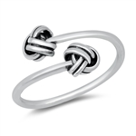 Silver Ring - Knots - $3.76