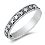 Silver Ring - Stars - $3.22