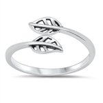 Silver Ring - Leaves - $2.37