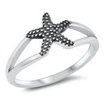Silver Ring - Starfish - $2.79