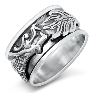 Silver Ring - Dragon - $9.89