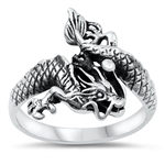 Silver Ring - Dragon - $8.69