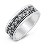 Silver Ring - Braid Band - $8.98
