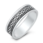 Silver Ring - Braid Band - $8.78