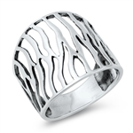 Silver Ring - Abstract - $5.87