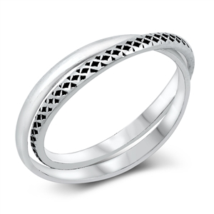 Silver Ring - 2 Bands - $3.17