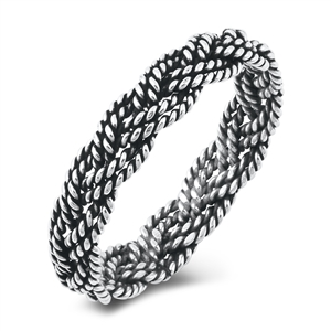 Silver Ring - Braid Twist - $2.96