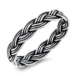 Silver Ring - Braid - $2.88