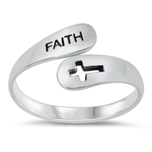 Silver Ring - Faith Cross - $3.56