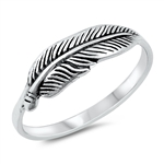 Silver Ring - Feather - $2.76
