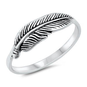 Silver Ring - Feather - $2.89