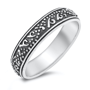 Silver Ring - Band w/ Design - $5.46