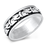 Silver Ring - Squirrel Band - $9.56