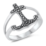 Silver Ring - Cross - $4.63