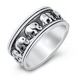 Silver Ring - Elephants - $8.78