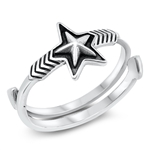 Silver Ring - Star - $4.93