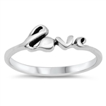 Silver Ring - Love - $2.30