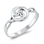 Silver Ring - Waves - $3.22