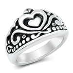 Silver Ring - Electroform Heart - $10.64