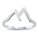 Silver Ring - Mountains - $2.30