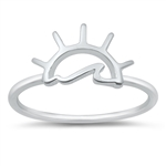 Silver Ring - Waves at Sunset - $2.75