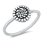Silver Ring - Sunflower - $2.79
