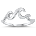 Silver Ring - Waves - $3.13