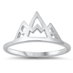 Silver Ring - Mountains - $2.73