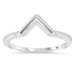 Silver Ring - V Shaped - $2.75