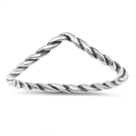 Silver Ring - V Shaped - $2.08
