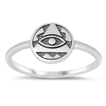 Silver Ring - Eye of Providence - $2.46