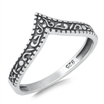 Silver Ring - V Shaped - $2.53