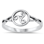 Silver Ring - Celtic Triskele - $2.51