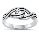 Silver Ring - Braid - $3.48
