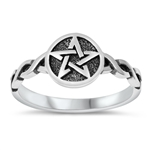 Silver Ring - Celtic Star - $3.37