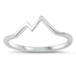 Silver Ring - Mountains - $2.29