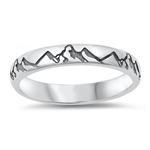 Silver Ring - Mountains - $4.09