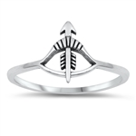 Silver Ring - Bow and Arrow - $2.32