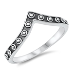 Silver Ring - V Shaped - $3.08